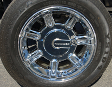Chrome upgrade for 15inch Hummer Wheels